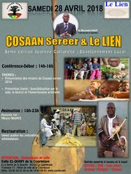 The Cosaan Sereer Association of France annual cultural event with Mbaye Ndiaye (Saturday, 28th April 2018)