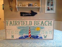 Ffld Beach w/ lighthouse scene