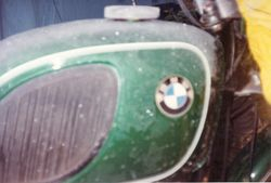 1992 Alpine Rally @ Perkins Flat - Icicles on tank