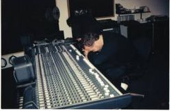 Nigel Smith at work in the studio