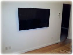 "60"" flat screen TV wall mount installation"