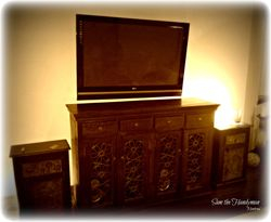 "50"" old type flat screen tv wall mounted"