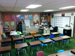 Sod in a classroom