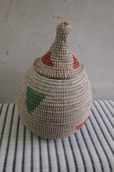 Pointy Lid baskets. large £18. h24cm