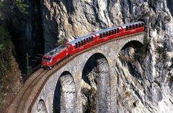 Amazing Landwasser Viaduct Switzerland