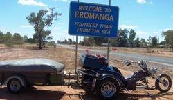 Entering the town of Eromanga - Aug 2007