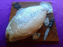 Trout Shaped Cake