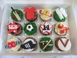 Seb's personalised birthday cupcakes