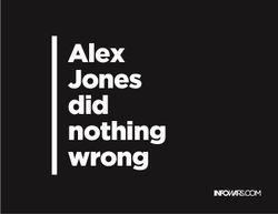 Alex Jones did nothing wrong