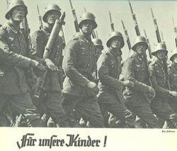 Marching Wehrmacht Soldaten: