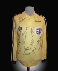 Admiral Match Worn England Ray Clemence England Goalie Shirt 1978