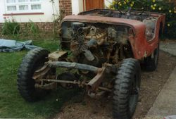 1944 Willys Jeep before restoration