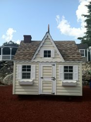 Childs Playhouse and shed