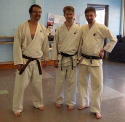 Todd Arsenault (left); Sifu Matt Arsenault (center); & Sifu Jeffrey Goodwin, Jr (right)
