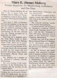 Moberg, Mary E. Stone 2000