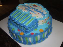 Two Tiered Cupcake Cake (Blue)