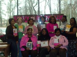 Savvy Members pose with Author Kimberla Lawson Roby