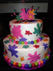 Splash Party cake