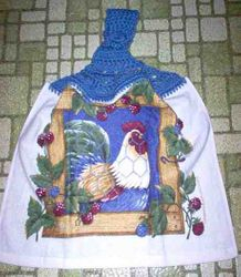 Rooster & Berries Kitchen Towel
