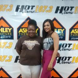 Gloria and Demetria McKinney at Hot 107.3 Jamz