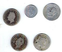 Monedas de a 5 centavos