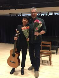 With Steven after his Solo Recital at NMS, 2018.