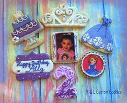 Birthday Cookies Sofia the First Theme