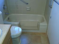bath tub step in conversion