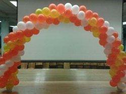 Orange, Yellow and White Balloon Arch