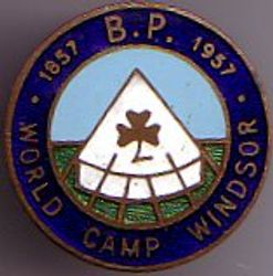 1957 World Camp Metal Badge