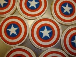 Captian America photo decal cookies $3.50 each