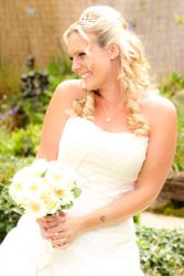 Flip In Hair piece added length and curls for this stunning bridal look