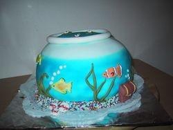 Cake 04A1 - Fish Bowl Cake
