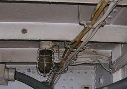 Light Fixture in RADAR Transmitter Room - Feb 2009