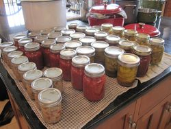 Jars of good things to eat.