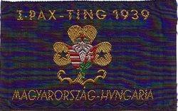 Ribbon 1939 Pax Ting World Camp Badge