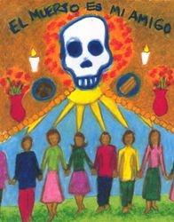 Death is My Friend, Oil Pastel, 11x14, Original Sold