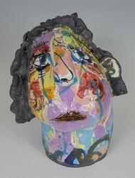 Mary Jones Ceramics.  Rainbow day.  SOLD