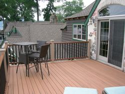 Two Story Full Length Trex Deck & Railing 1