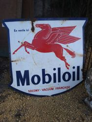 #15/ 183 Enamel Mobil Oil Sign SOLD
