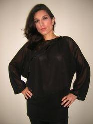 Transparent Black Blouse $45