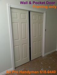 Pocket door framing only