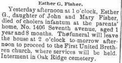 Fisher, Esther 1890