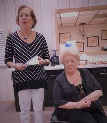 Nancy Hill and Fran Krizman