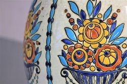 Vase Boch polychrome