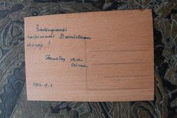 1956 m. presuoto medzio atvirute. Kaina 2 Eur.