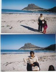 Fanta w/ Tochanta age 5 @ beach, Hout Bay, Cape Town