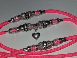Salmon Paracord with Silver!