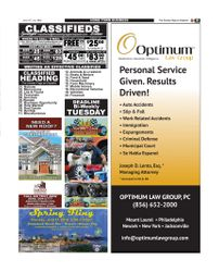 CLASSIFIEDS AND OPTIMUM LAW GROUP