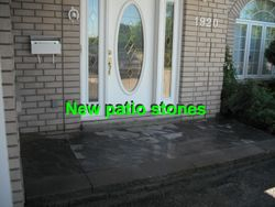 Front door patio stones